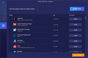 Capture d'ecran du logiciel IObit Software Updater 2.4.0.2983 fr