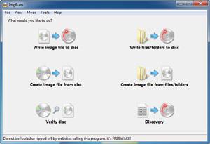 Capture d'ecran du logiciel ImgBurn 2.5.8.0 fr