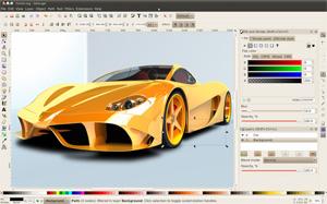 Capture d'ecran du logiciel Inkscape 0.92.3 fr - Linux