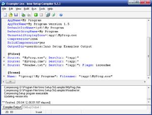 Capture d'écran du logiciel Inno Setup Compiler 5.5.9 fr