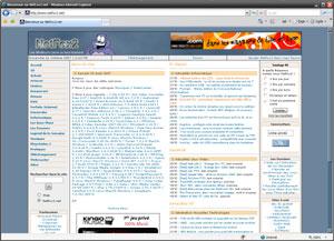 Capture d'écran du logiciel Internet Explorer 8.0 fr - Win...