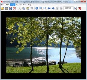 Capture d'écran du logiciel IrfanView Portable 4.44 fr