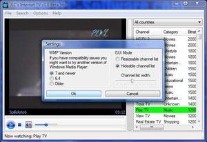 Capture d'ecran du logiciel JLC's Internet TV 1.2.1 final