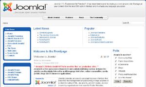 Capture d'ecran du logiciel Joomla 3.9.24 fr