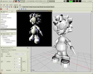 Capture d'écran du logiciel K-3D 0.8.0.1