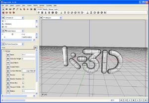 Capture d'ecran du logiciel K-3D Portable 0.8.0.1 Rev2