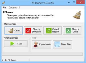 Capture d'ecran du logiciel KCleaner 3.8.0.110 fr