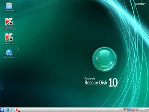 Capture d'ecran du logiciel Kaspersky Rescue Disk 18.0.11.3 (c) (2021.05.09) fr