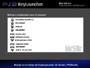 Capture d'ecran du logiciel PS2 KeyLauncher 0.5 beta 3
