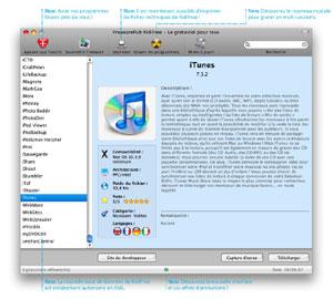 Capture d'écran du logiciel KidiFree 1.2 fr