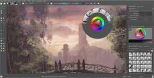 Capture d'écran du logiciel Krita Portable 3.3.3