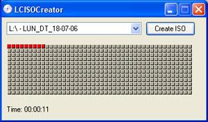 Capture d'écran du logiciel LC ISO Creator 1.1