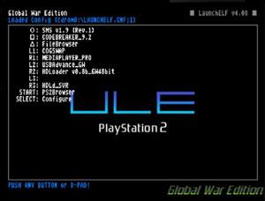 Capture d'ecran du logiciel uLaunchELF 4.38 DVD