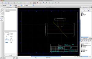 Capture d'écran du logiciel LibreCAD 2.1.3 fr - MacOS
