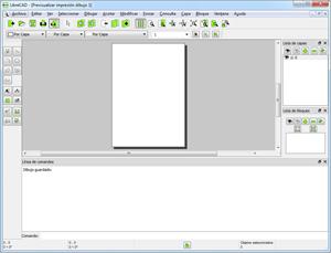 Capture d'ecran du logiciel LibreCAD Portable 2.1.3 fr – Windows