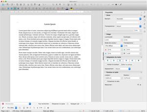 Capture d'ecran du logiciel LibreOffice 7.1.4 fr - MacOS