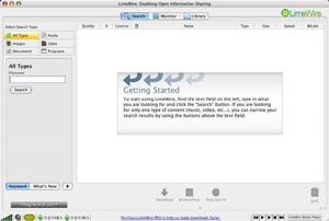 Capture d'écran du logiciel LimeWire 5.5.16 - MacOS