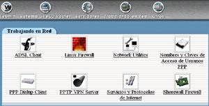 Capture d'écran du logiciel Linux LiveCD Router 2.0.40
