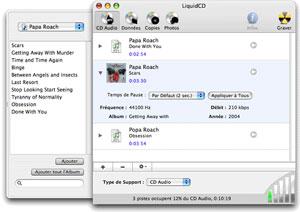 Capture d'écran du logiciel LiquidCD 2.08 fr