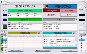 Capture d'ecran du logiciel Look@LAN Network Monitor 2.50 build 35
