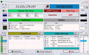 Capture d'ecran du logiciel Look@LAN Network Monitor 2.50 build 35
