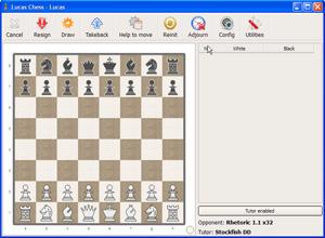 Capture d'ecran du logiciel Lucas Chess Portable 11.17 fr