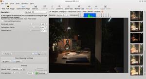 Capture d'écran du logiciel Luminance HDR 2.5.1 fr