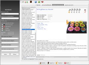 Capture d'écran du logiciel MAKuisine 1.2.1 fr