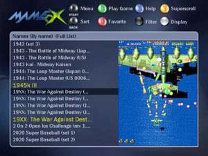 Capture d'écran du logiciel MAMEdOX 1.1
