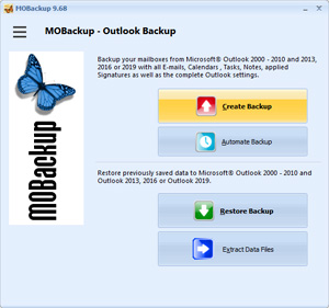Capture d'ecran du logiciel MOBackup 10.51.193.1100