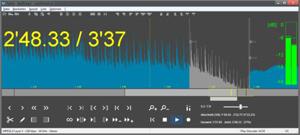 Capture d'ecran du logiciel MP3DirectCut 2.32 fr