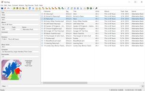 Capture d'ecran du logiciel MP3Tag 2.95 fr