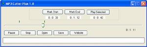 Capture d'écran du logiciel MP3 Cutter Plus 1.0.1