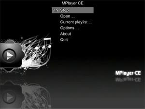 Capture d'écran du logiciel MPlayer CE r636 fr
