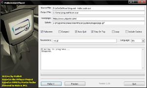 Capture d'écran du logiciel MakeInstantPlayer 1.60