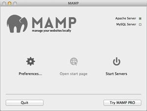 Capture d'écran du logiciel Mamp 4.2 fr - MacOS