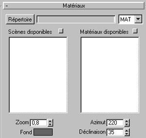 Capture d'écran du logiciel Matériel Catalogue 3.3 fr