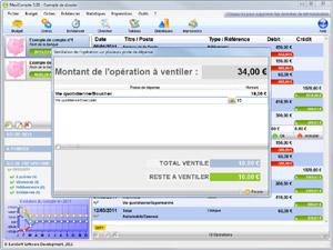 Capture d'écran du logiciel MaxiCompte Portable 3.24 fr
