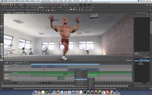 Capture d'écran du logiciel Autodesk Maya 2018 - MacOS