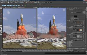 Capture d'écran du logiciel Autodesk Maya 2017 - Windows