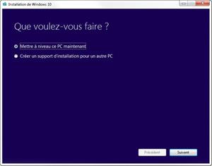 Capture d'ecran du logiciel Microsoft Media Creation Tool 10.0.19041.1 fr