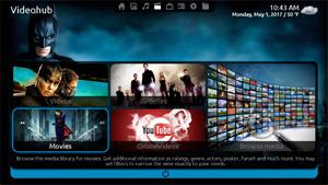 Capture d'écran du logiciel MediaPortal 2.1.3 fr