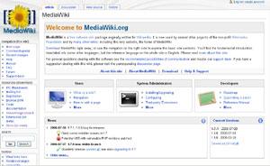 Capture d'écran du logiciel MediaWiki 1.31.0 fr