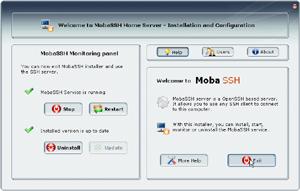 Capture d'écran du logiciel MobaSSH Home Edition 1.60 fr
