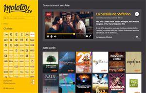 Capture d'écran du logiciel Molotov 2.1.2 fr