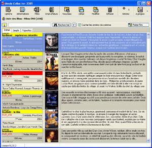 Capture d'écran du logiciel Movie Collection 6.1.0.3 fr