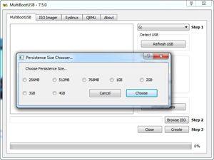 Capture d'écran du logiciel MultiBootUSB 9.2.0