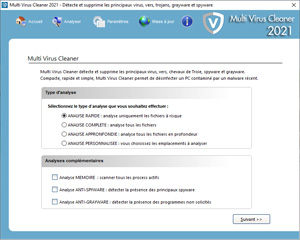 Capture d'ecran du logiciel Multi Virus Cleaner 2020 20.3.0 fr