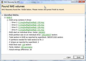 Capture d'écran du logiciel NAS Data Recovery 2.42