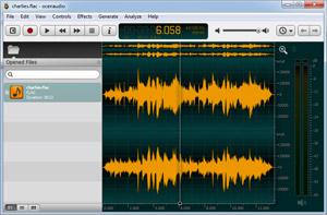 Capture d'ecran du logiciel Ocenaudio 3.7.9 fr
